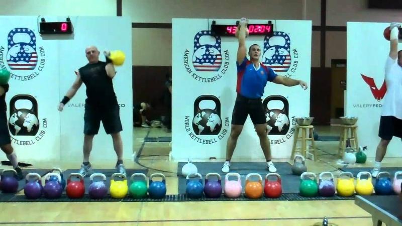 Ivan Denisov One Arm Jerk 48kg 6 min 20 rpms
