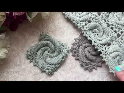Квадрат крючком с 3D спиралью Crochet motif