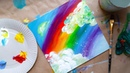 РАДУГА Из трёх цветов Как делать плавные переходы Рисование для детей и взрослых