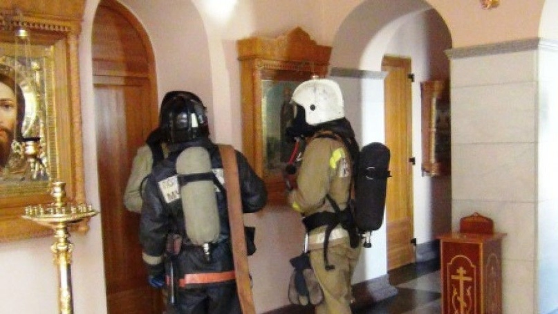 В Самарской области горела церковная лавка при храме