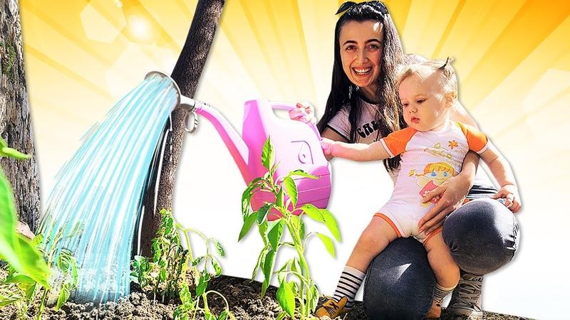 Anne Vlog Eğitici bebek etkinlikleri Sevcan Derin ile bahçeye fide ekiyor