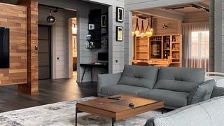 В гостях у Александра Петунина: стильный деревянный дом в Москве. ПАЛЕКС дома из бруса. 8 часть