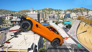 GTA 5 Crazy Ragdolls Spiderman VS Mercedes AMG (Euphoria Physics Fails and Funny Moments)