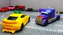 Transformers Bumblebee vs Optimus Prime Animated Film Lego!